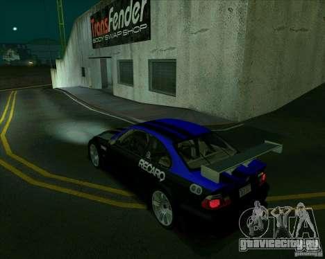 BMW M3 GTR Final для GTA San Andreas вид слева