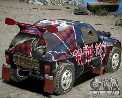Mitsubishi Pajero Proto Dakar Винил 3 для GTA 4 вид справа