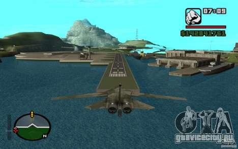F-111 Aardvark для GTA San Andreas вид сзади слева
