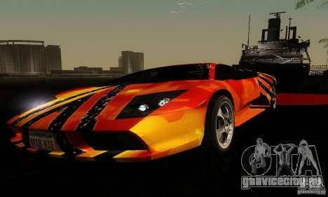 Lamborghini Murcielago для GTA San Andreas вид сбоку
