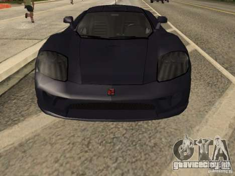 Saleen S7 Twin Turbo для GTA San Andreas вид изнутри