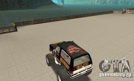 Chevrolet Blazer K5 Monster Skin 4 для GTA San Andreas вид сзади слева