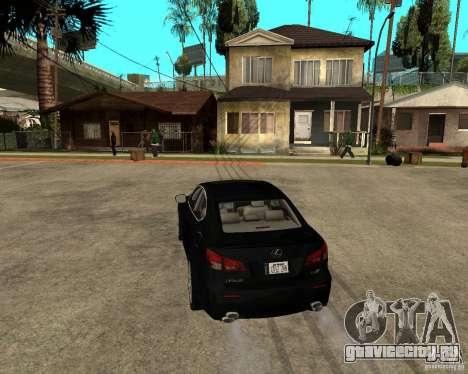 Lexus IS-F v2.0 для GTA San Andreas вид сзади слева