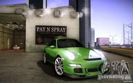 Porsche 911 GT3 (997) 2007 для GTA San Andreas вид изнутри