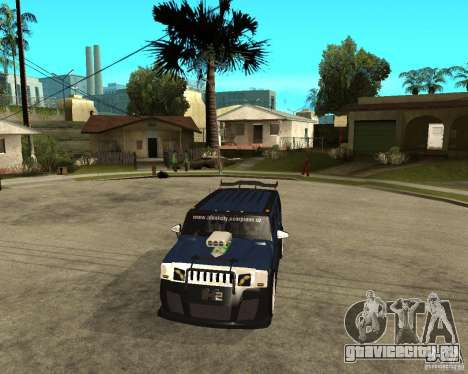 AMG H2 HUMMER Jvt HARD exclusive TUNING для GTA San Andreas вид сзади