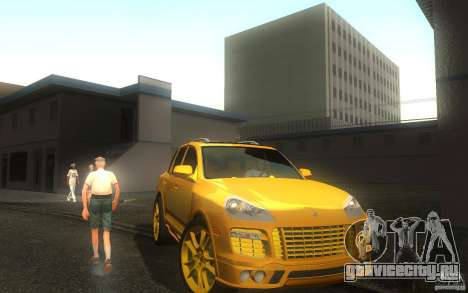 Porsche Cayenne gold для GTA San Andreas