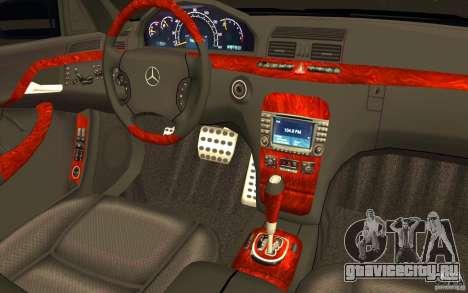 Mercedes-Benz S600 Pullman W220 для GTA San Andreas вид сверху