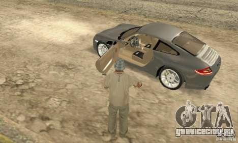 Porsche Carrera S 2009 для GTA San Andreas вид сзади
