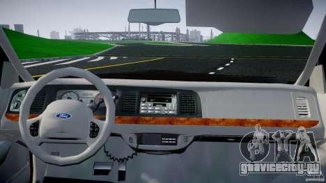 Ford Crown Victoria 2003 v2 FBI для GTA 4 вид справа