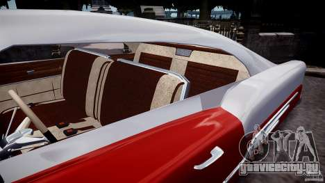 Buick Custom Copperhead 1950 для GTA 4 вид изнутри