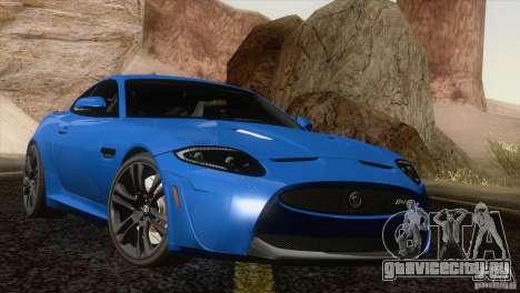 Jaguar XKR-S 2011 V1.0 для GTA San Andreas вид сверху