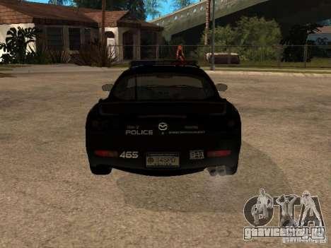 Mazda RX-7 Police для GTA San Andreas вид справа