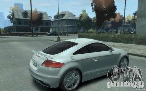 Audi TT-RS для GTA 4 вид справа