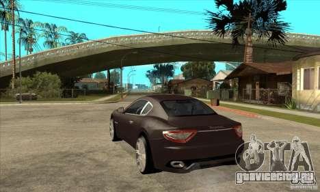 Maserati Gran Turismo для GTA San Andreas вид сзади слева