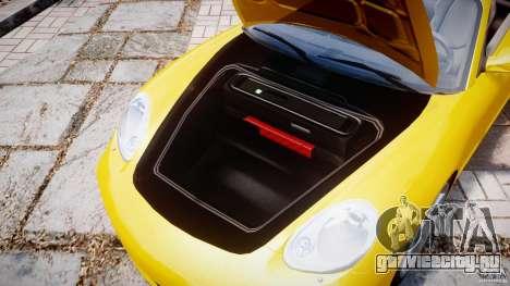 Porsche Boxster S для GTA 4 вид сзади