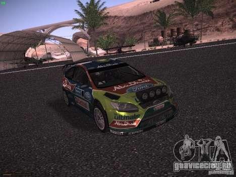Ford Focus RS WRC 2010 для GTA San Andreas вид слева