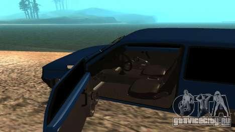 ВАЗ Ока 1111 для GTA San Andreas вид изнутри