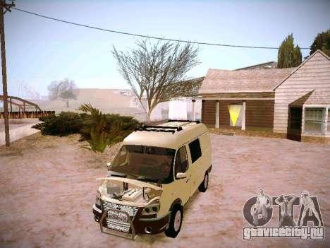ГАЗ 2217 Бизнес для GTA San Andreas вид изнутри