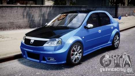 Dacia Logan 2008 [Tuned] для GTA 4 вид слева