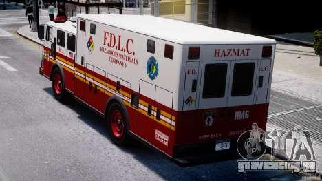 LCFD Hazmat Truck v1.3 для GTA 4 вид сбоку