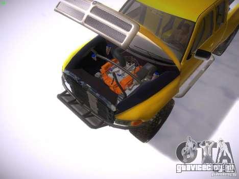 Dodge Ram Prerunner для GTA San Andreas вид справа