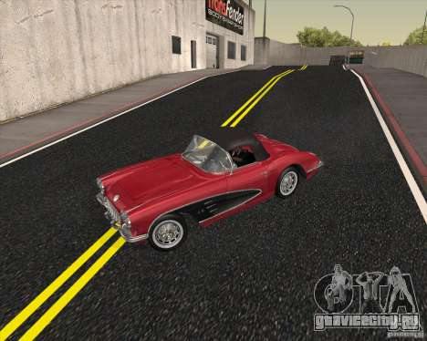 Chevrolet Corvette 1959 для GTA San Andreas вид сзади