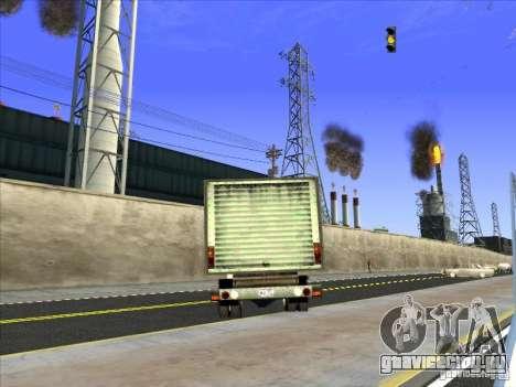 Yankee на базе GMC для GTA San Andreas вид изнутри