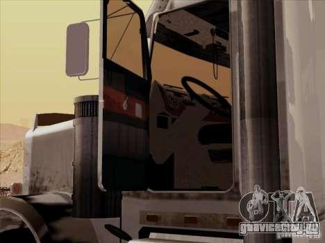 Kenworth W 900 RoadTrain для GTA San Andreas вид изнутри