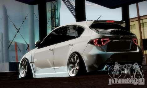 Subaru Impreza WRX Camber для GTA San Andreas вид снизу