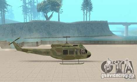 UH-1 Iroquois (Huey) для GTA San Andreas вид сзади слева