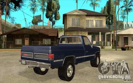 GMC Sierra 1986 для GTA San Andreas вид справа