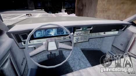 Chevrolet Impala 1983 [Final] для GTA 4 вид сзади