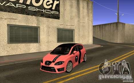Seat Leon Cupra R для GTA San Andreas вид изнутри