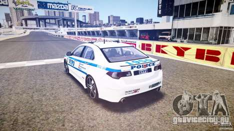 Honda Accord Type R NYPD (City Patro 1950l) ELS для GTA 4 вид сзади слева