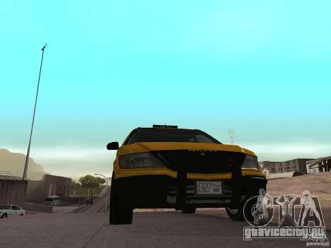 Cabbie  из GTA 4 для GTA San Andreas вид сзади слева