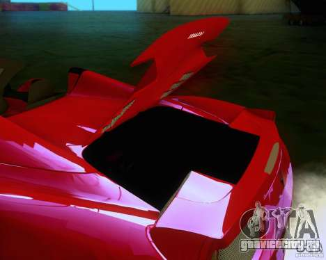 Ferrari 458 Spider для GTA San Andreas вид сзади