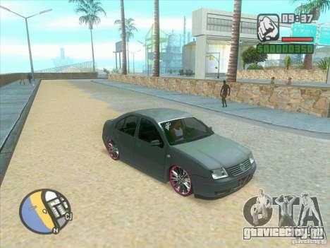 VW Bora Tuned для GTA San Andreas вид сзади слева