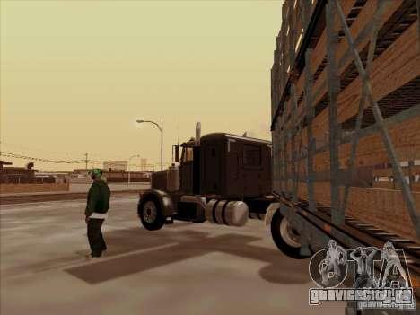 Peterbilt 378 для GTA San Andreas вид сзади