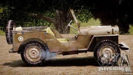 Jeep Willys [Final] для GTA 4 вид сбоку