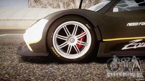 Pagani Zonda R 2009 для GTA 4 вид снизу