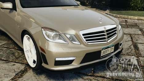 Mercedes-Benz E63 AMG для GTA 4 вид сверху