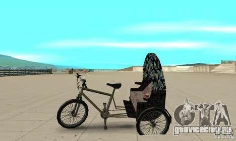 Manual Rickshaw v2 Skin3 для GTA San Andreas вид слева