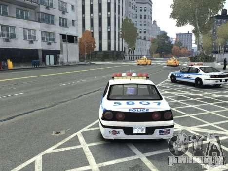 Chevrolet Impala NYCPD POLICE 2003 для GTA 4 вид сзади слева