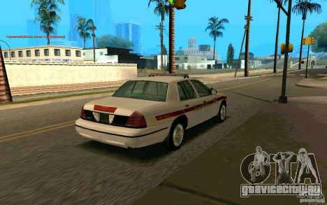 Ford Crown Victoria South Dakota Police для GTA San Andreas вид сзади слева