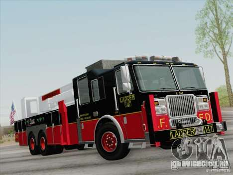 Seagrave Marauder II. SFFD Ladder 147 для GTA San Andreas колёса