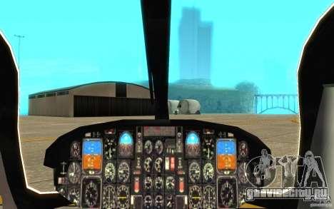 NYPD Eurocopter By SgtMartin_Riggs для GTA San Andreas вид изнутри