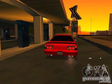 Previon GT для GTA San Andreas вид изнутри