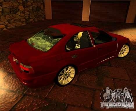 BMW M5 E39 для GTA San Andreas вид изнутри