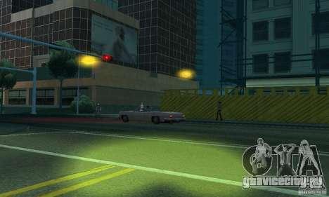 Жёлтый цвет фар для GTA San Andreas шестой скриншот
