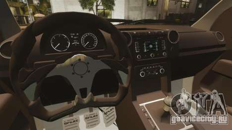 Volkswagen Amarok Light Tuning для GTA 4 вид изнутри